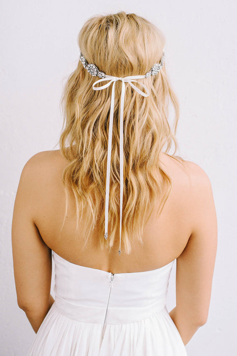 Crystal encrusted bridal headpiece | Sara Gabriel