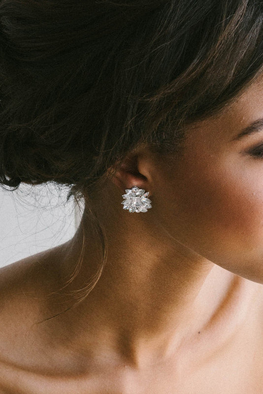 Sparkle statement stud earrings | Sara Gabriel