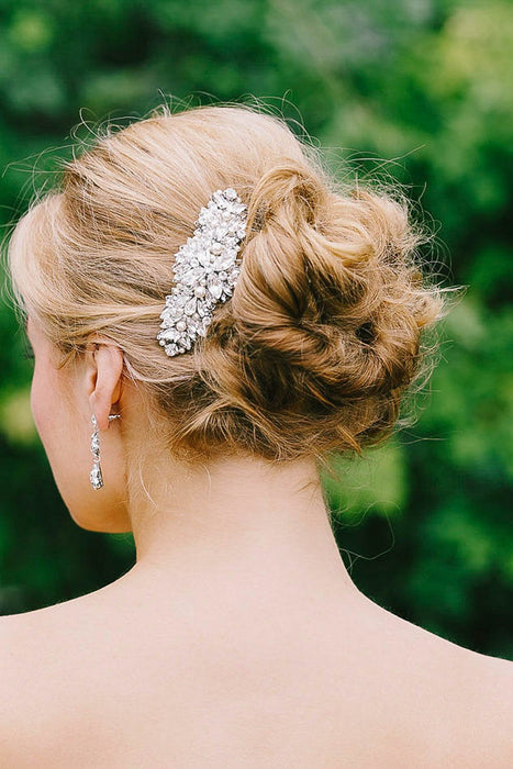 Vintage inspired crystal and pearl comb | Sara Gabriel