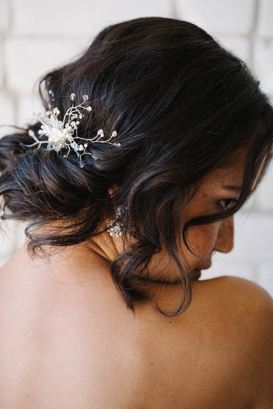 Pearl and crystal hair vine comb | Sara Gabriel