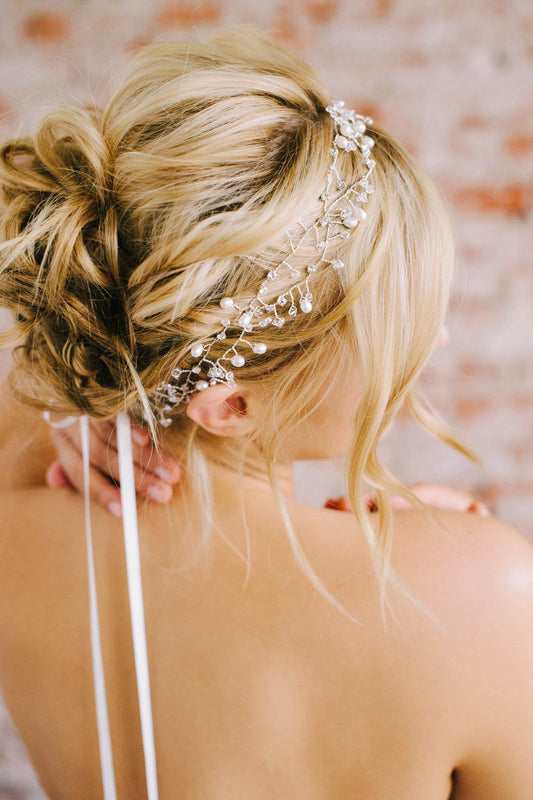 Crystal and pearl vine headpiece | Sara Gabriel