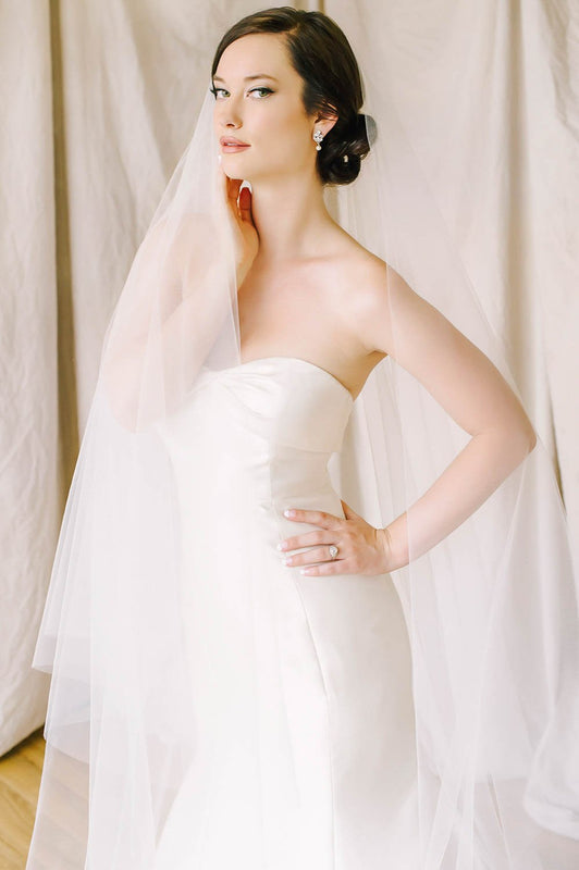 Two layer cut edge bridal veil | Sara Gabriel