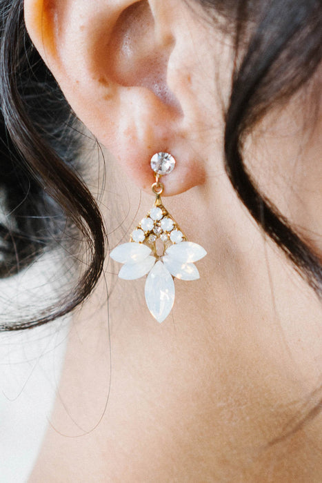 Gold and opal drop earrings | Sara Gabriel