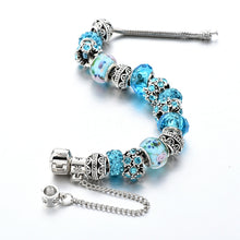 Load image into Gallery viewer, NEW Blue Crystal Charm Bracelet