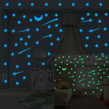Load image into Gallery viewer, Luminous Wall Stickers of  Stars, Meteors and Moons
