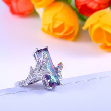 Load image into Gallery viewer, Purple Leaf Stone Ring