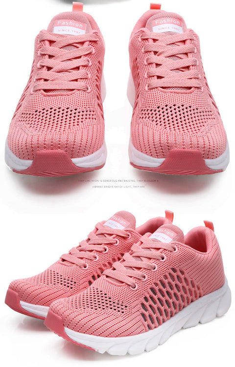 Womens Casual Running Shoes Breathable Knit Sneakers for Ladies Ultra Lightweight Sports Shoes Upper material:Knit Insole