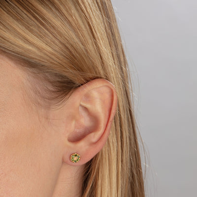 MODERN PAVE Love Stud Earrings in Gold