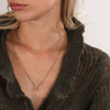 DISTORTION Necklace in Silver & Gold Plated Silver
