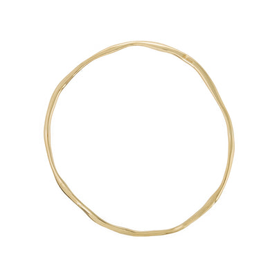 organic look bangle available in 18carat yellow gold elegant style bangle 18ct, 18 carat 18k yellow gold