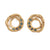 DISTORTION 5 Stone Stud Earrings in Silver & Gold Plated Silver