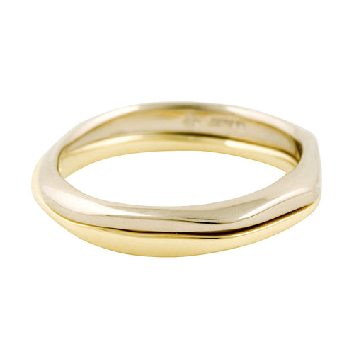 BRIDAL Half and Other Half Ring in Gold & Platinum