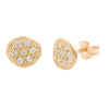 MODERN PAVE  7 Diamonds Stud  Earrings in 9ct Gold
