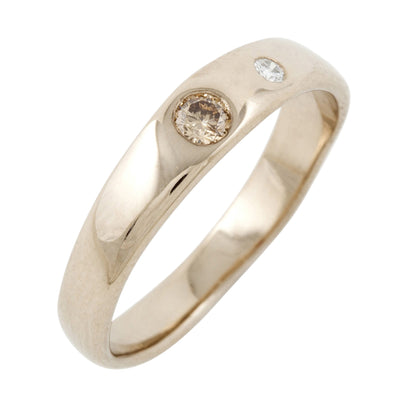 Union 1 with Brown & White Diamond Ring in 18ct Yellow or White Gold