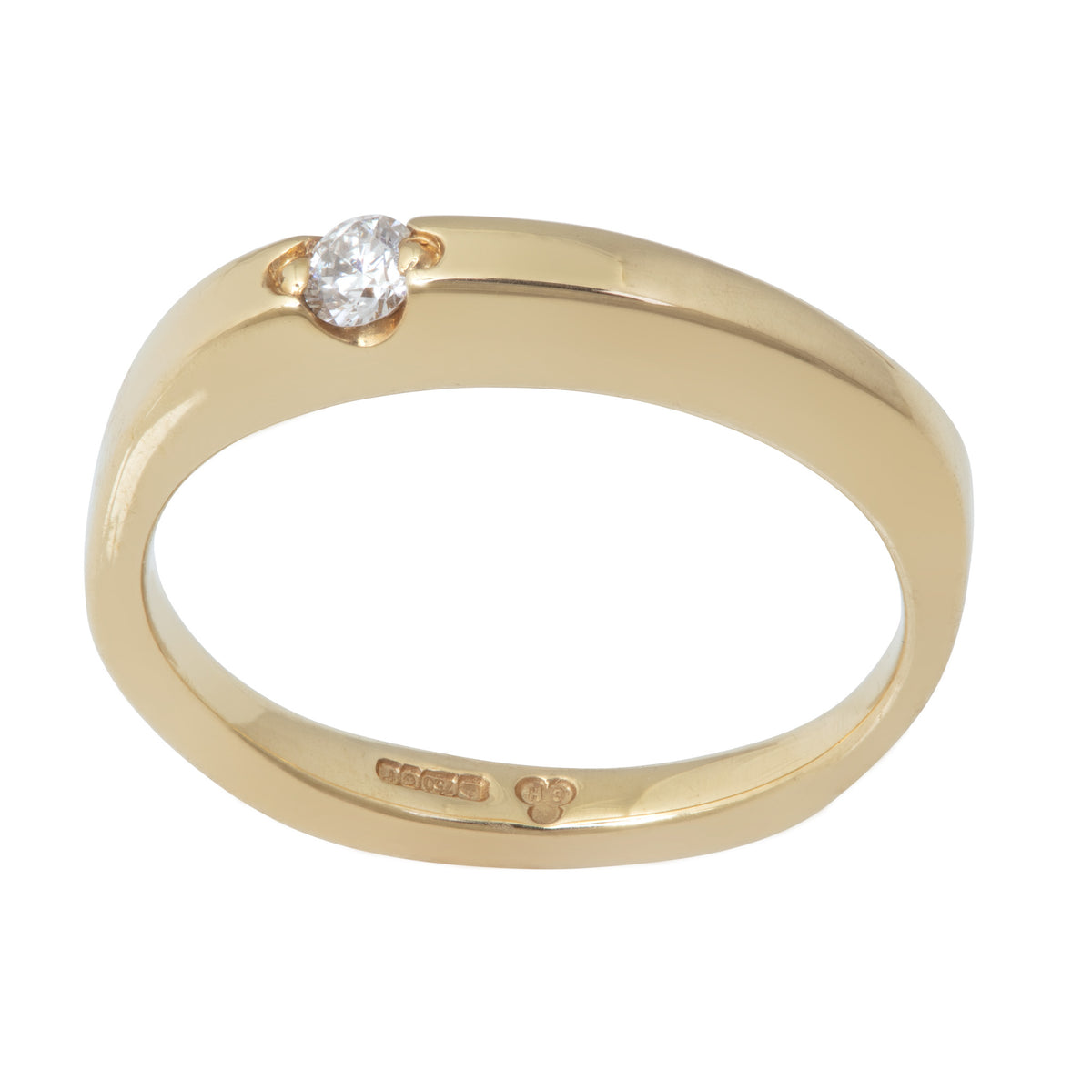 Floating Diamond Ring in 18ct Yellow Gold or 18ct White Gold