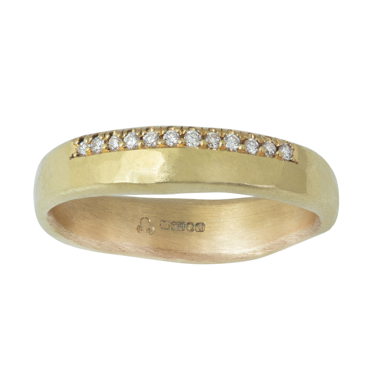 Faith Ring with 12 Diamonds in 18ct Yellow or 18ct White Gold