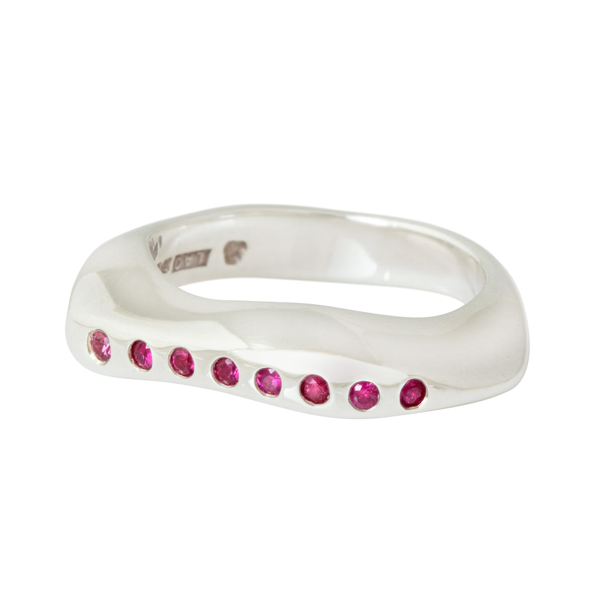 CELEBRATION RINGS Mountain Ring with Rubies in Silver