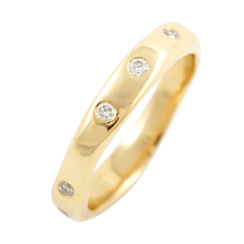Together Ring With 11 White Diamonds Ring in Yellow or White Gold