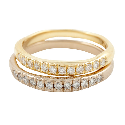 Ring I with 12 Diamonds in Gold