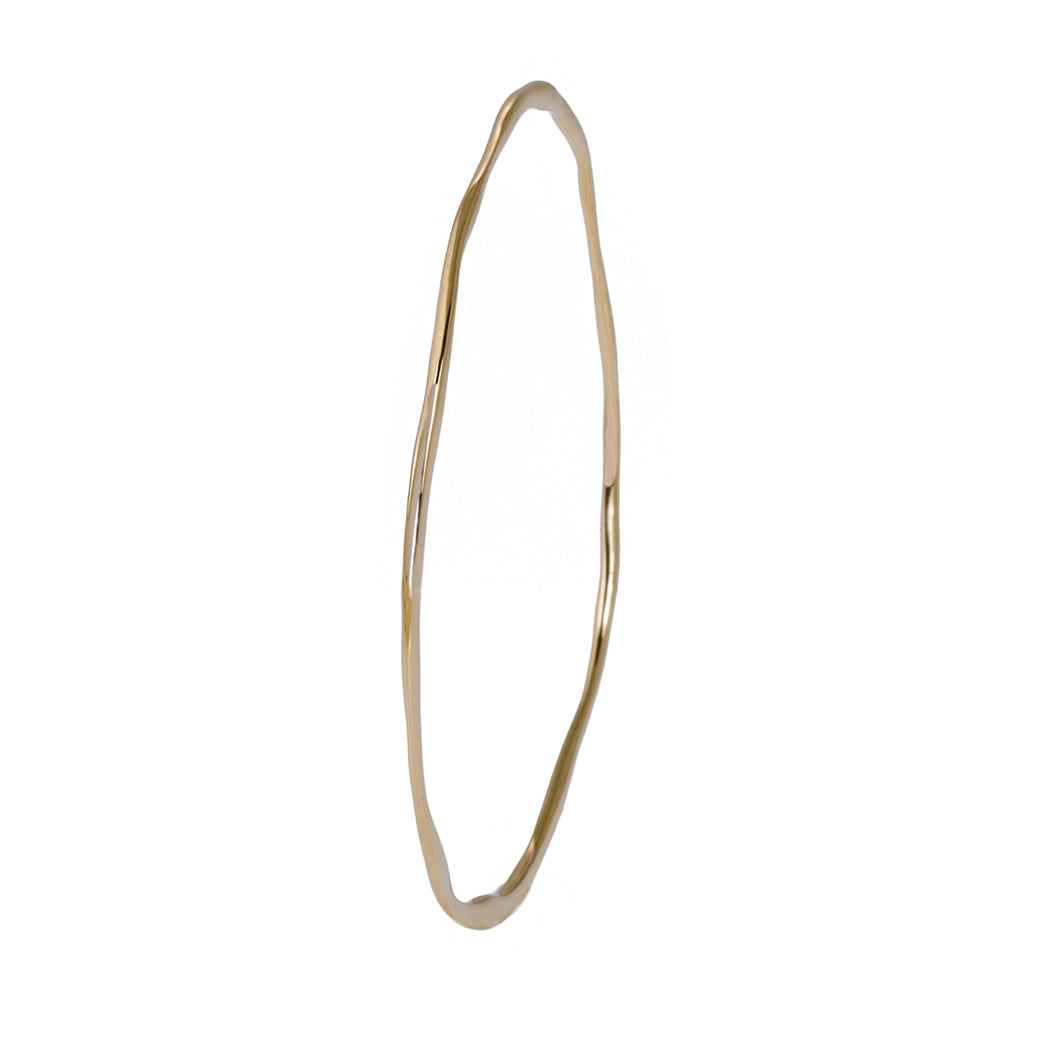thin elegant organic unusual styled bangle in 18carat 18ct 18k white gold