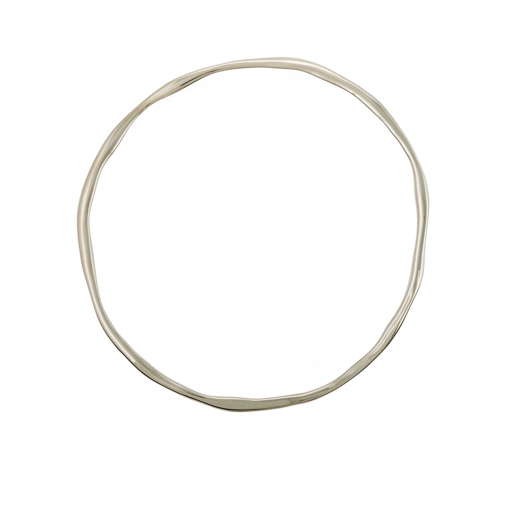 sophisticated styled bangle minimalist and modern bangle in 18ct 18carat 18k white gold
