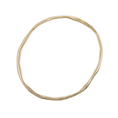 organic shaped bangle modern look bangle in 9ct 9carat 9k gold