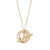 UNITY T-Bar Necklace with Medium Pendant in 9ct Yellow Gold