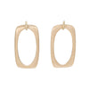 CONNECTIONS Rectangle Stud Earrings in 9carat Yellow Gold