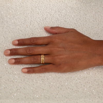 BRIDAL Wedding III Ring in Gold & Platinum