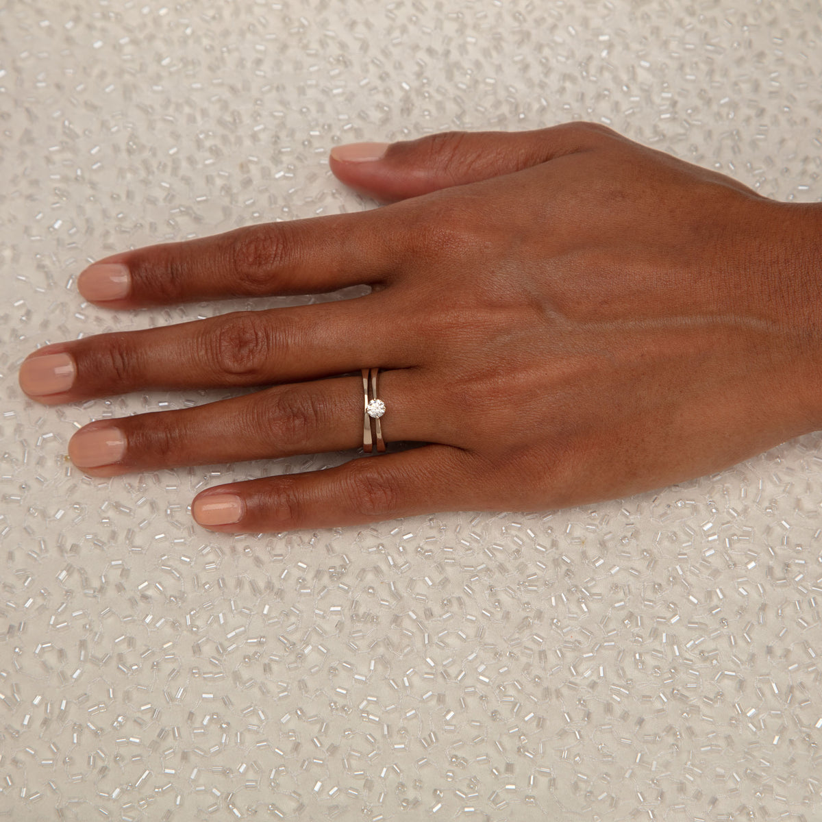 BRIDAL Marriage Thin Ring in Gold & Platinum
