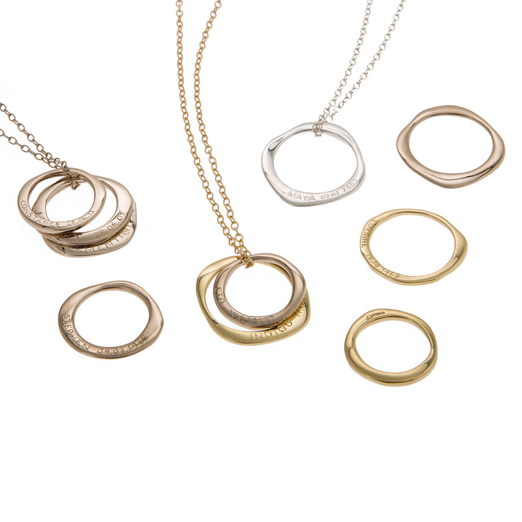 CHILDREN NECKLACE Child Ring in Silver & Gold