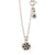 MODERN PAVE 7 Black Diamonds Necklace in Silver