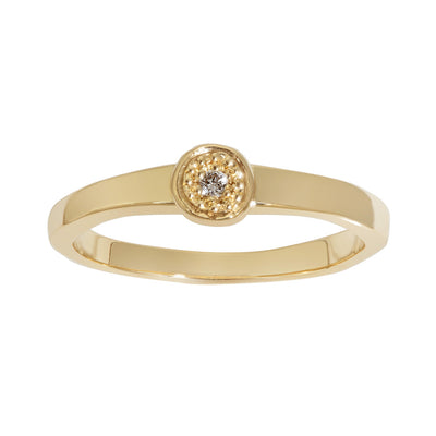 MODERN PAVE Tiny Ring in Gold