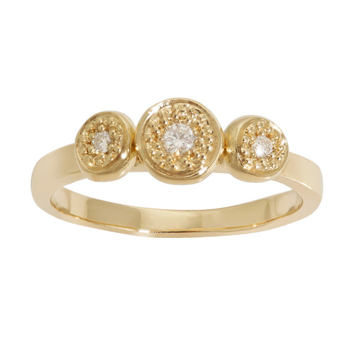 BRIDAL Trilogy Diamond Ring in Gold