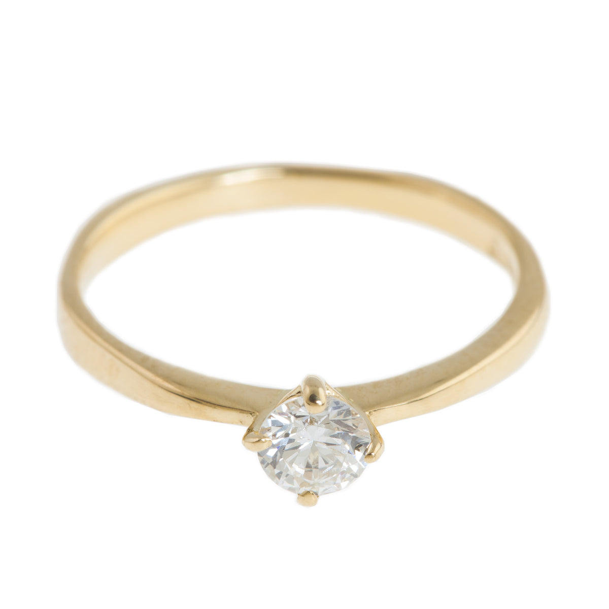 Queen Ring in 18ct Yellow or 18ct White Gold with Diamond