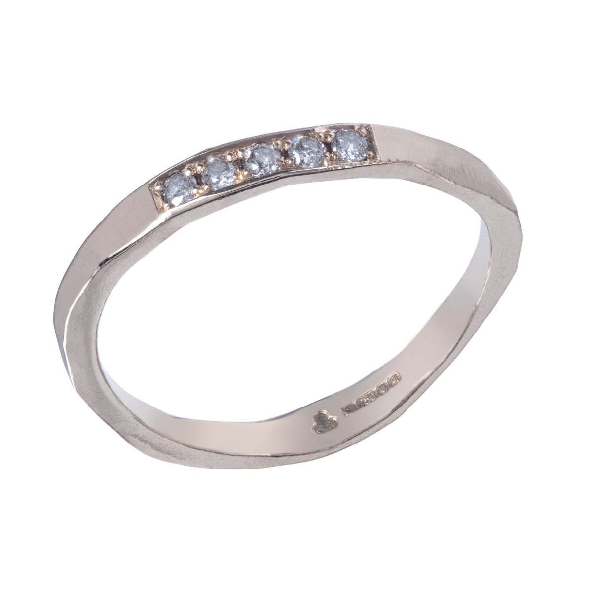 Trust Ring with 5 Grey Diamonds in Gold