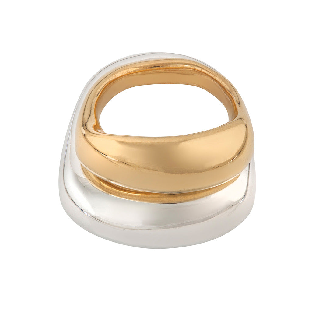 UNITY Small Ring in Gold Plated Silver