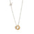 UNITY Simple Necklace with Tiny Pendant in Silver & Gold Plated Silver