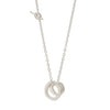 UNITY Simple Necklace with Medium Pendant in Silver & Gold Plated Silver