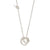 UNITY Simple Necklace with Small Pendant in Silver & Gold Plated Silver