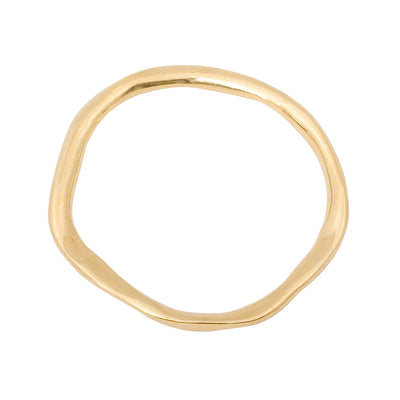 modern minimalist bangle in gold plated starling silver. unisex design made in uk  Edit alt text