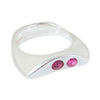 CELEBRATION RINGS Vision II Ring with Pink Tourmaline & Ruby in Silver