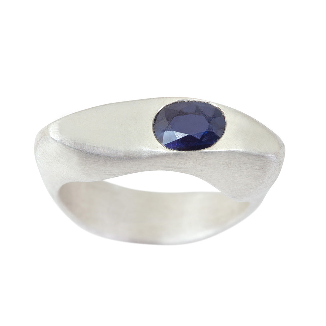 CELEBRATION RINGS Vision I Ring with Blue Sapphire in Silver