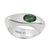 CELEBRATION RINGS Vision I Ring with Green Tourmaline in Silver