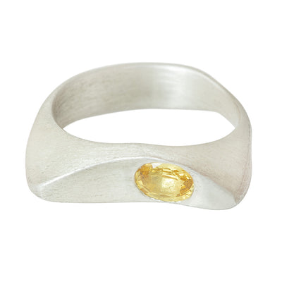 CELEBRATION RINGS Vision I Ring with Yellow Sapphire in Silver