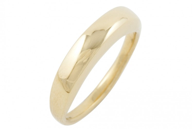 alternative wedding ring made in london modern organic shape thick ring