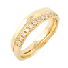 BRIDAL Wedding II with 12 Diamonds Ring in Gold & Platinum