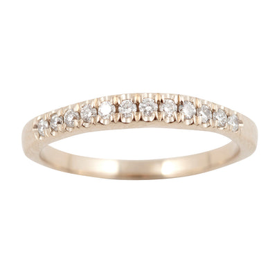 BRIDAL Wedding I with 12 White Diamonds Ring in Gold & Platinum