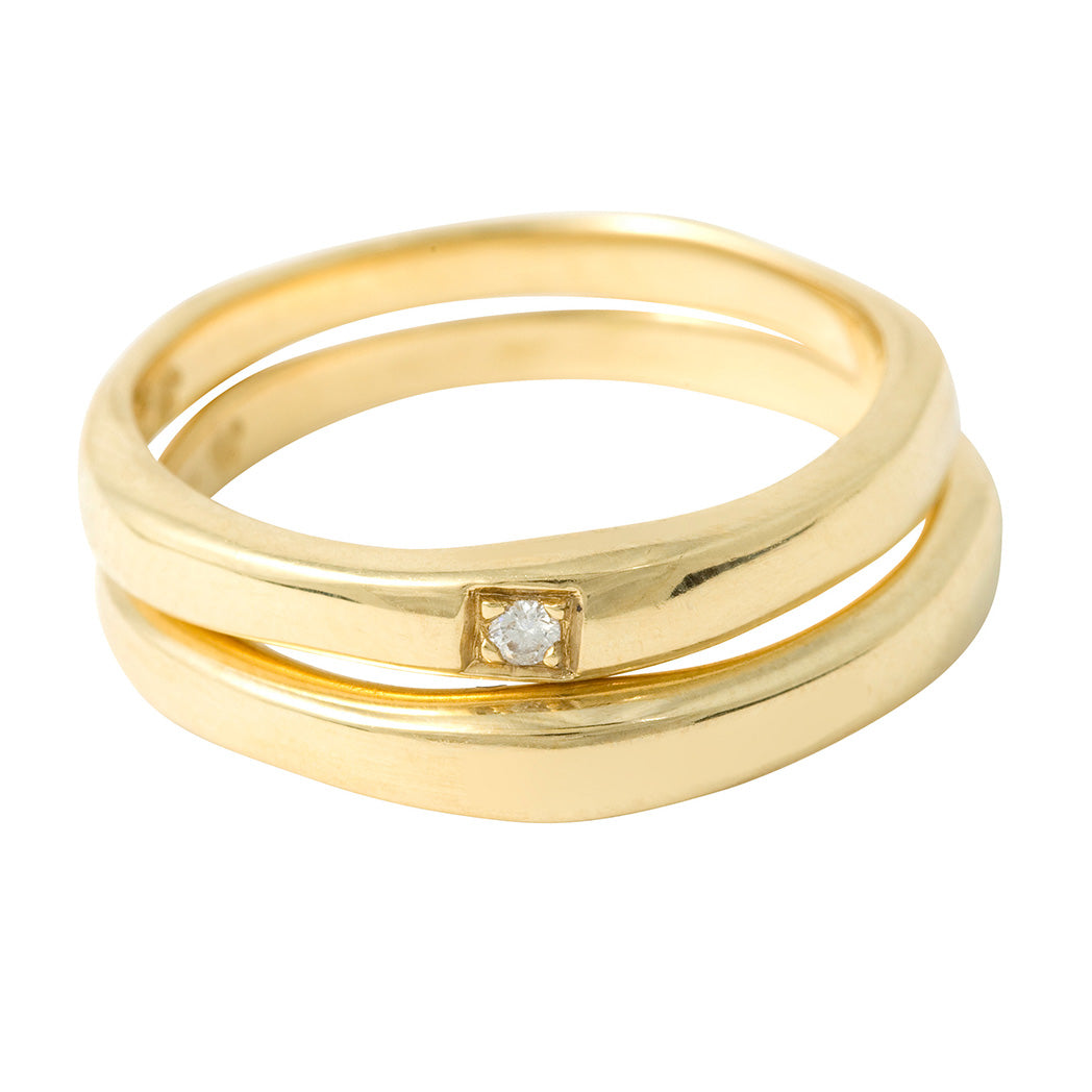 BRIDAL Wedding I Ring in Gold & Platinum