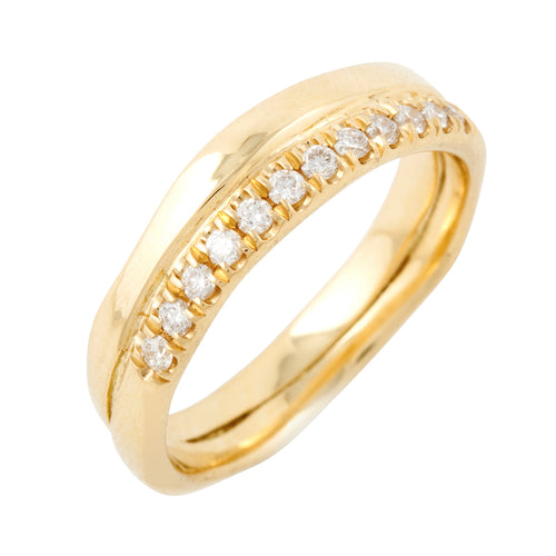 Ring II with 12 Diamonds in Gold